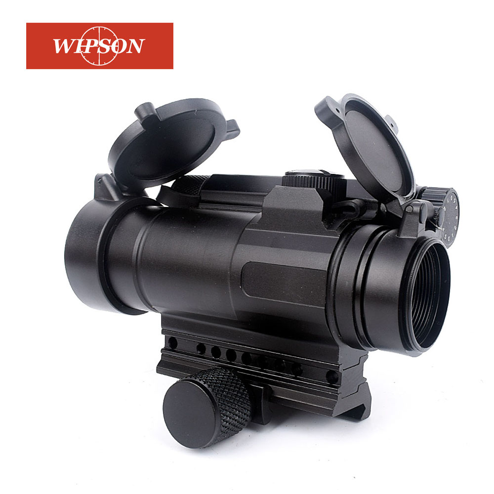 WIPSON Aim M4 optical sight Red Dot Collimating Sights Optics Scope Tactical Riflescope Hunting shooting airsoft air guns tactical m4 1x33 red dot collimating sight with red and green illumination for hunting shooting hunting
