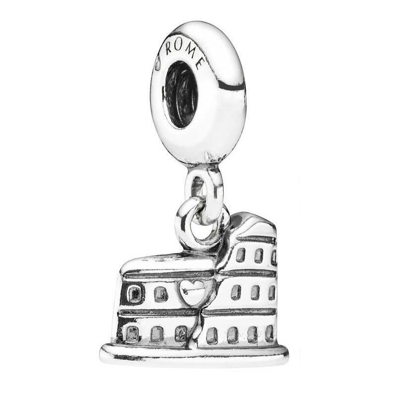 Authentic 925 Sterling Silver Bead Charm Vintage Roman Colosseum Pendant Beads Fit Pandora Bracelet Bangle Diy JewelryAuthentic 925 Sterling Silver Bead Charm Vintage Roman Colosseum Pendant Beads Fit Pandora Bracelet Bangle Diy Jewelry