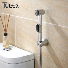 Tulex Toilet Bidet Shower Head Hand Sprayer Shattaf Bathroom Chrome Plated Wholesale Retail Accessories for Bathroom