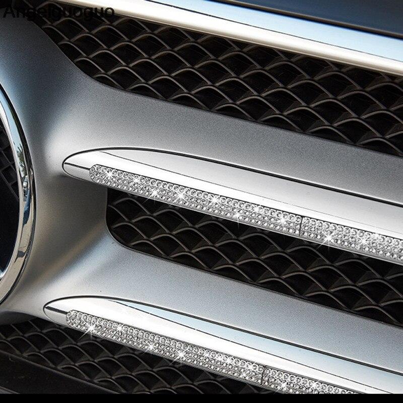 Angelguoguo Car Front Grille Bumper Trim Decoration cover sticker For Mercedes Benz E Class W213 C