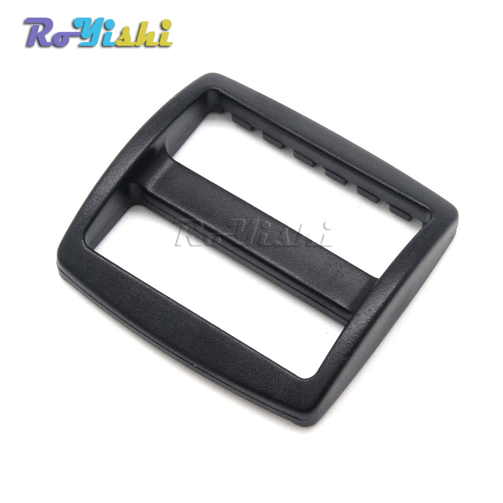 100pcs/pack 1-1/2 Plastic Black Tri-glide Adjust Slider Tri-ring Buckles Backpack Straps Webbing 38mm Commodities Are Available Without Restriction Apparel Sewing & Fabric