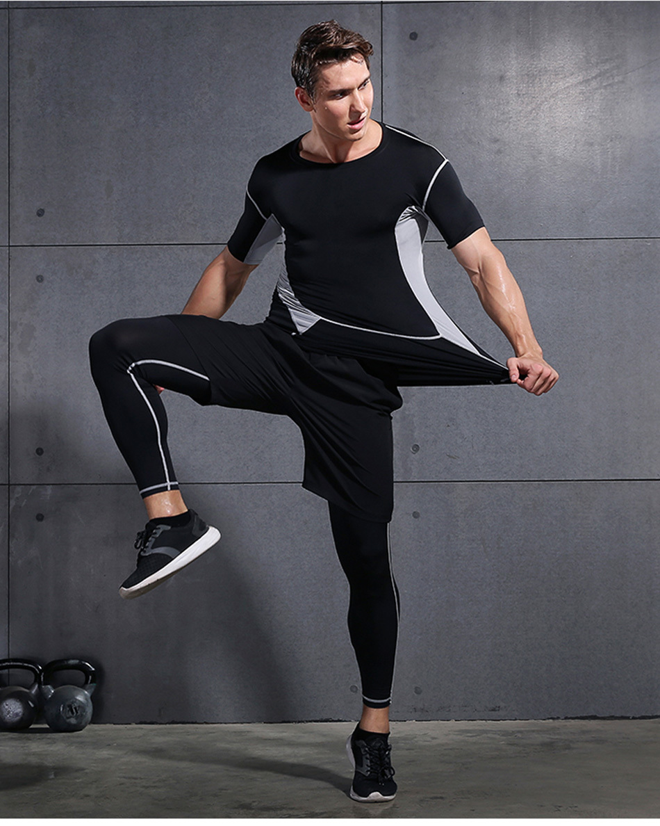 HTB1BPghbnHuK1RkSndVq6xVwpXaj REXCHI 5 Pcs/Set Men's Tracksuit Sports Suit Gym Fitness Compression Clothes Running Jogging Sport Wear Exercise Workout Tights