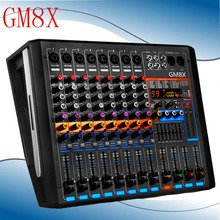 550W + 550W High Power 8 Channel Digital Audio Sound Mixer 99 Digital DJ USB Bluetooth Device Field Mixer Controller