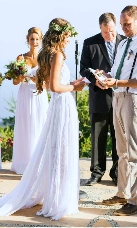 2017 Bohemian Beach Wedding Dress Beach Wedding Dress Summer Outdoor