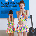 2016 mother and daughter clothes female and baby girl two pcs swimwear set family holiday beach clothes matached mom and me