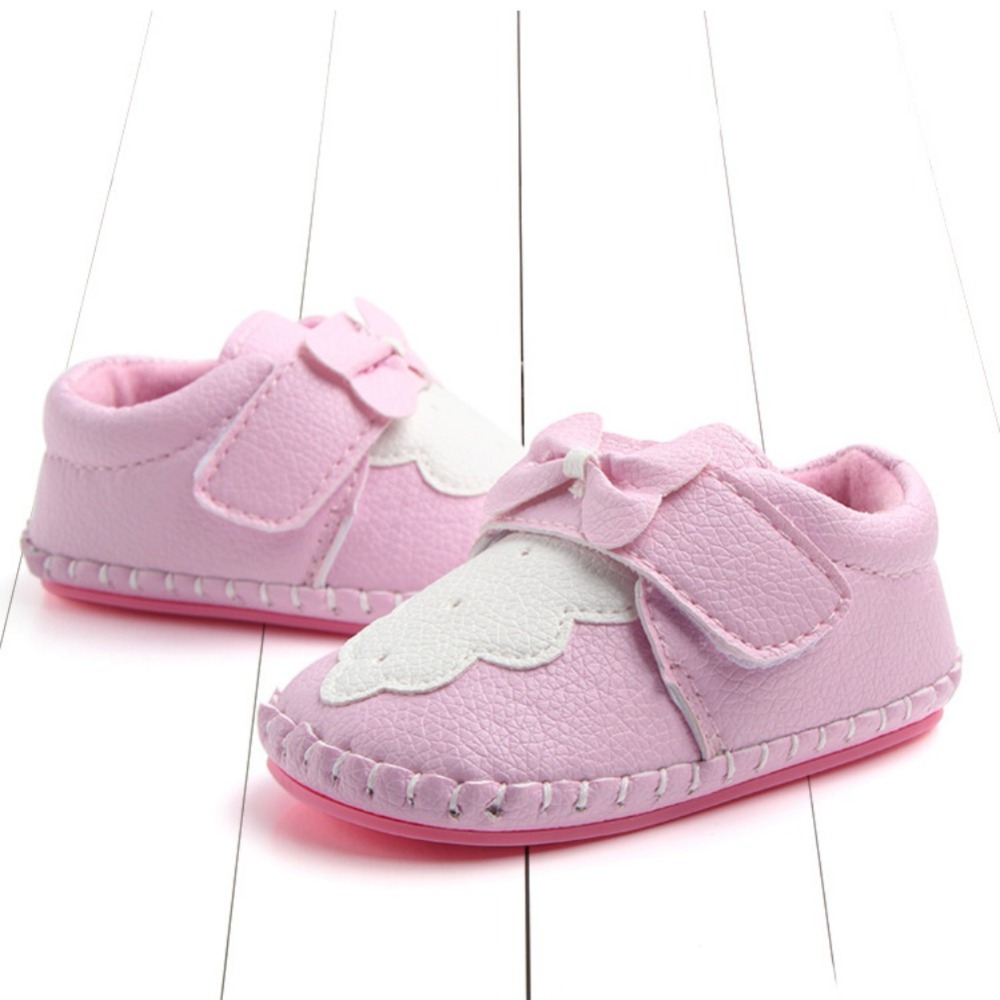 WEIXINBUY Spring Autumn Baby Shoes Newborn Girls PU leather Soft shoes Non-slip First Walkers