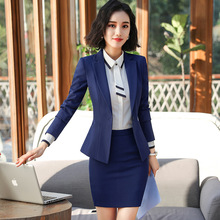 Professional suit female 2019 new high quality fabric Slim temperament office long sleeve jacket pants