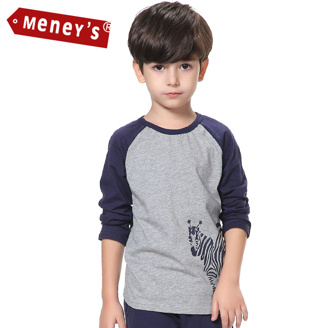 ad44e8d9f Children's T-shirts Boys Casual Pattern Zebra Kids Tees Autumn Baby Boy  Clothes Children O
