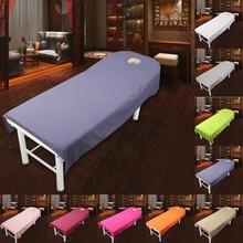 Beauty Bedsheet Cosmetic sábanas de salón de belleza tratamiento de masaje sábanas suaves Spa SPA cama cubierta sábanas con agujero (80cm x 190 cm)
