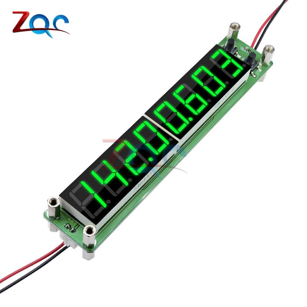 Grün 0,1 zu 60 mhz 20 mhz zu 2400 mhz 2,4 ghz RF Signal Frequenz Zähler Cymometer Tester 0,56 zoll 8 LED Digital