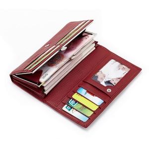 Image 4 - MELOVO wyjątkowa wyprzedaż!! 100% portfel z prawdziwej skóry wołowej portfele damskie sprzęgła długa torebka designerska torebka JL18