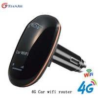 4G LTE Car Wifi Router CarFi Unlocked Modem SIM Card Wifi Hotspot with 5V/1A Cigarette lighter USB Charger Wireless Broadband