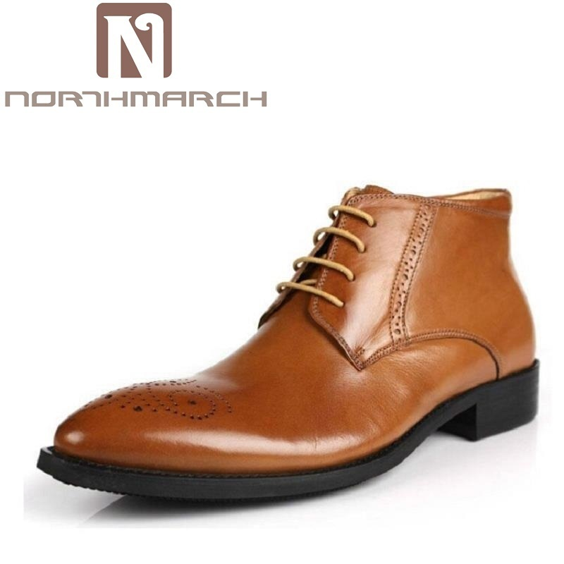 NORTHMARCH Men Shoes Spring Autumn British Fashion Ankle Boots Men Comfortable Brogue Shoes Men Casual Brown Martin Boots 2017 new spring british retro men shoes breathable sneaker fashion boots men casual shoes handmade fashion comfortable breathabl