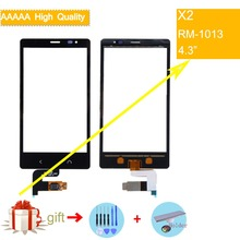 For Nokia X2 X 2 Dual SIM RM-1013 X2DS Touch Screen Touch Panel Sensor Digitizer Front Glass Outer Lens Touchscreen NO LCD все цены