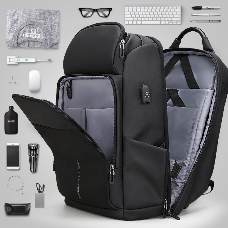 High Quality Genuine Leather Large Backpack Men Laptop Bag Daypack Black / Coffee Casual Business Leather Backpack Men #MD J7335 - 4