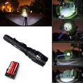 5000LM Zoomable T6 powerful led flashlight Zoom Torch Lighting Lamp 500M tactical Bike lights lantern+Battery+EU/US Charger