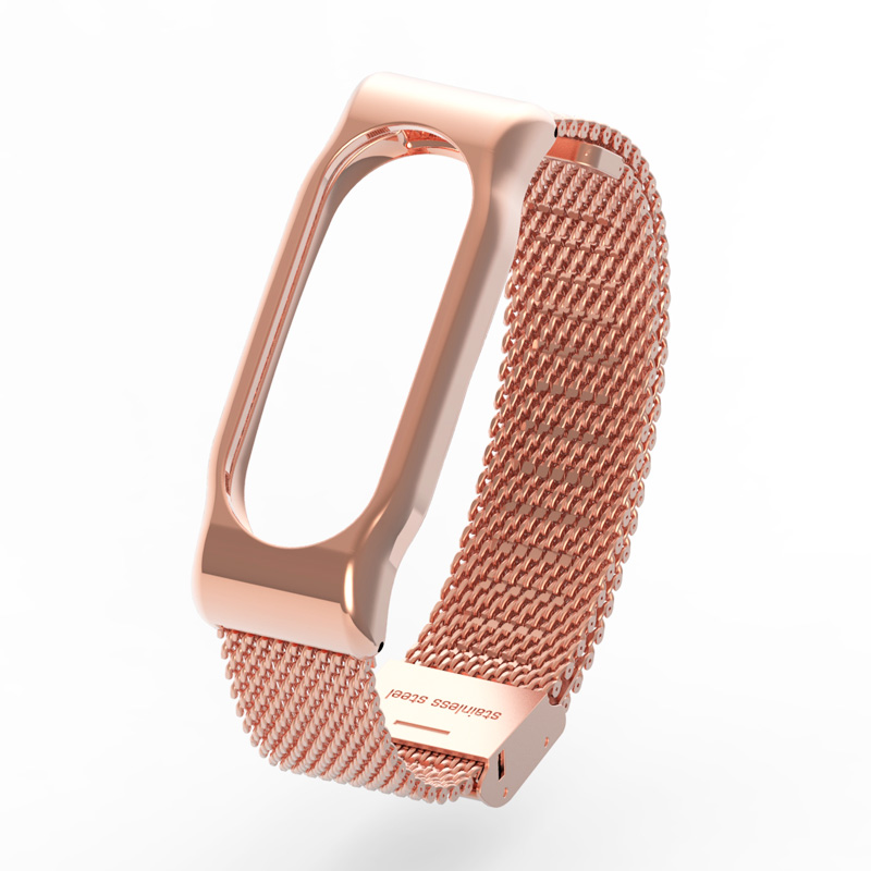 Metal Strap for Xiaomi Mi Band 2 Screwless Stainless Steel Bracelet for MiBand 2 Smart Band Replace Accessories For Mi Band 2 18