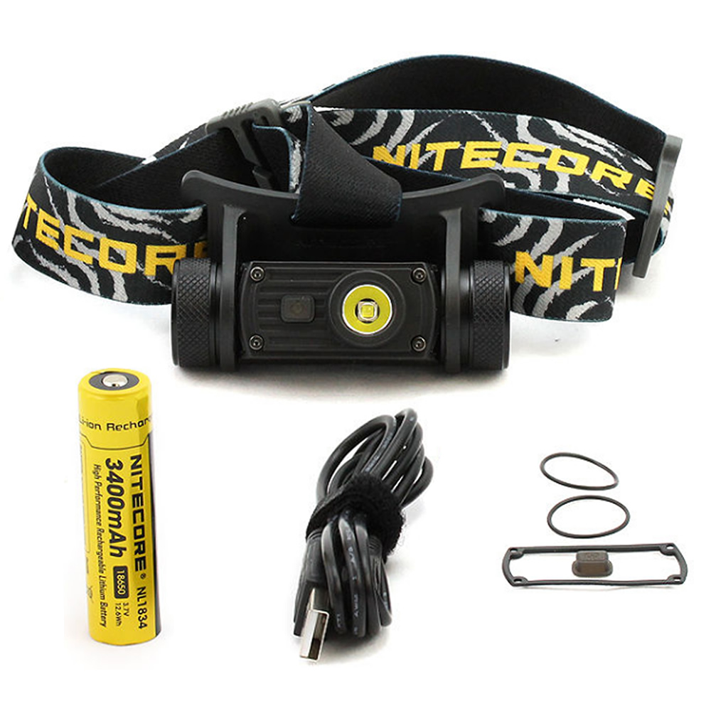 2019 Wholesale Nitecore HC60 USB Rechargeable Headlamp CREE XM-L2 U2 1000 Lumen Camping Headlight + NL1834 3400mAh 18650 Battery