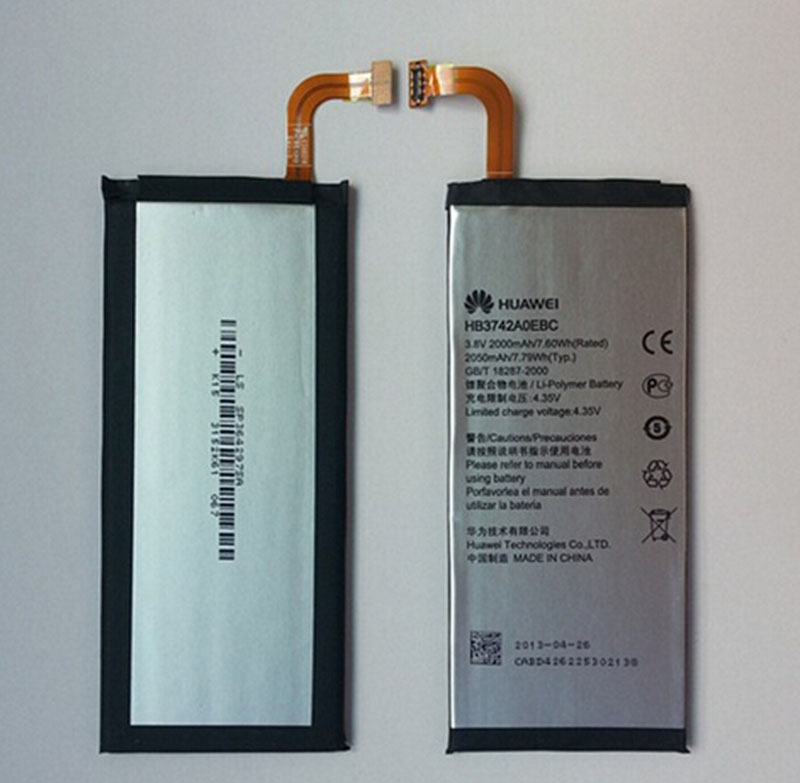 Original HB3742AOEBC 2000mah 3.7V Li-ion mobile phone battery for Huawei Ascend P6 Batterie Batterij Bateria tools free shipping