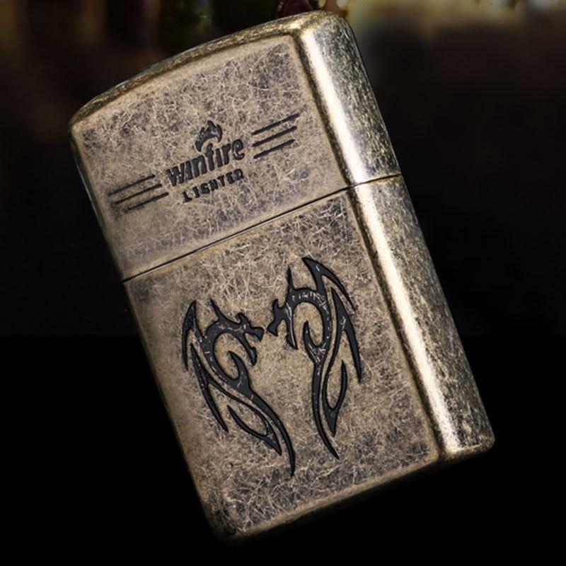 New Skeleton Lighter Flint Metal Kerosene Oil Lighter Gasoline Free Fire Refillable Cigarette Retro Gadgets For Men Lighters