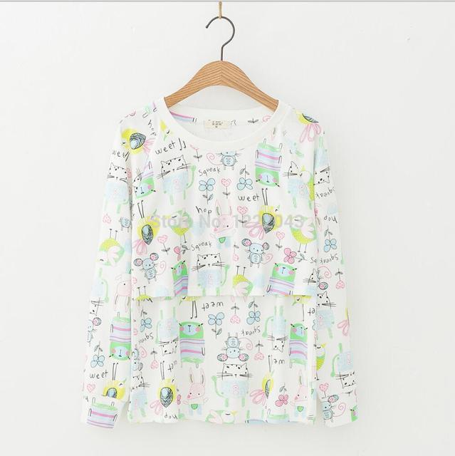 Tops y pantalones de Ropa de Maternidad Tees Lactancia Ropa de enfermería T-shirt Ropa de Lactancia Embarazo Para Las Mujeres Embarazadas