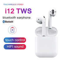 New 2019 i12 tws Wireless Bluetooth 5.0 Earphone TWS i12 Touch Control Earbuds i 12 tws HiFi Sound Headphones For All Smartphone