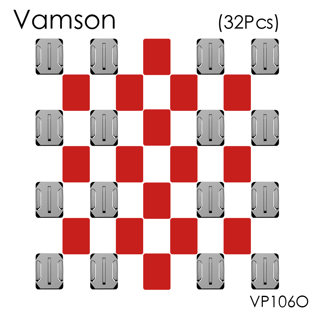 Vamson 32pcs/set 16pcs Curved Surface Mount Base+16pcs 3M Sticker For Gopro Hero 5 4 3+ for Xiaomi for Yi for SJ400 VP106O браслет 925 3m yi skub012