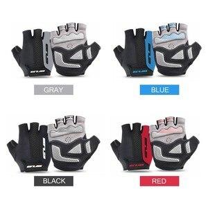 Image 4 - قفازات GUB 2099 لركوب الدراجات نصف الأصابع ، قفازات رياضية للخارج مقاومة للصدمات ، مانعة للانزلاق ، تسمح بالتهوية للرجال والنساء ، قفازات لركوب الدراجة