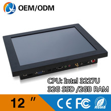 12″ industrial all in one desktop pc touch Resistive screen Resolution 800×600 computer with i3 cpu 1.9GHz