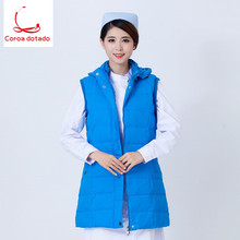 Nurse down jacket long style doctor short work clothes cotton-padded thick warm winter