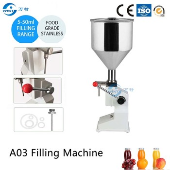 A03 Manual Liquid Filling Machine For Vinegar Tomato Paste Sauce Ketchup (5~50ml) Cream Shampoo Honey Butter Juice Oil Filler high quality manual hand pressure food filling machine paste liquid filler cream filling machine 1 50ml