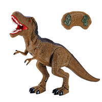 New Electronic Dinosaur Roaring Walking RC Toys Electronic Pet Robot Dinosaur Model Toy With Music Light