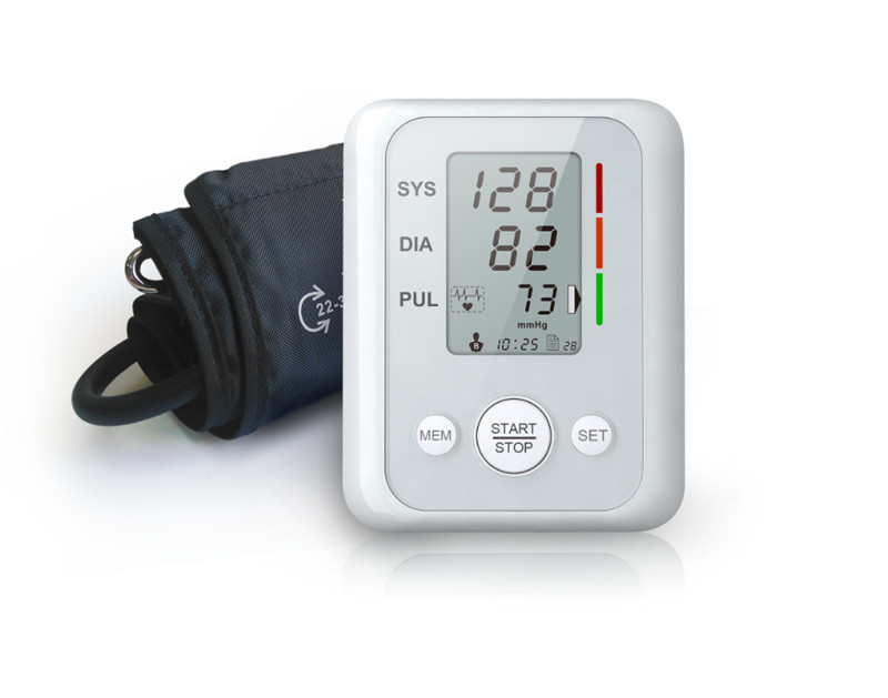 Digital New Cheap Arm Cuff Voice Blood Pressure Monitor HeMonitor Heart Beat Meter Sphygmomanometer Blood Pressure Meter AB-503