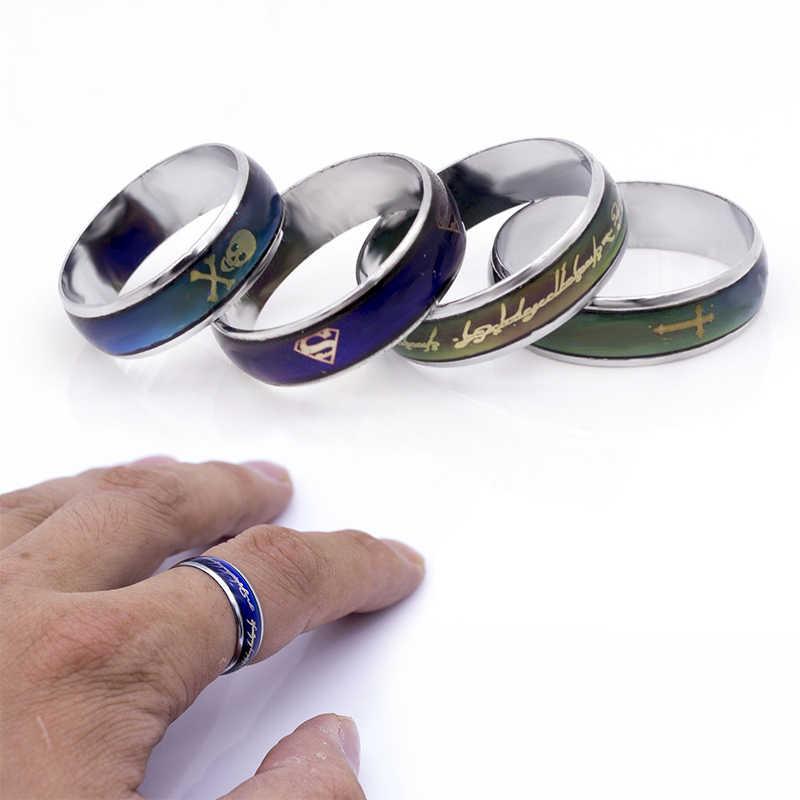ขายร้อน 6 มิลลิเมตรกว้าง Lord/Superman/Skull/แหวนคลาสสิกอุณหภูมิเปลี่ยนสีแหวนคนรัก to buddhist monastic