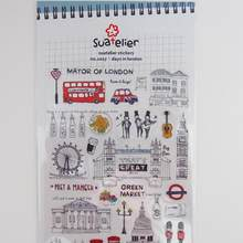 1pcs/lot Vintage London series paper sticker DIY Multifunction decoration sticker no.1017(China)