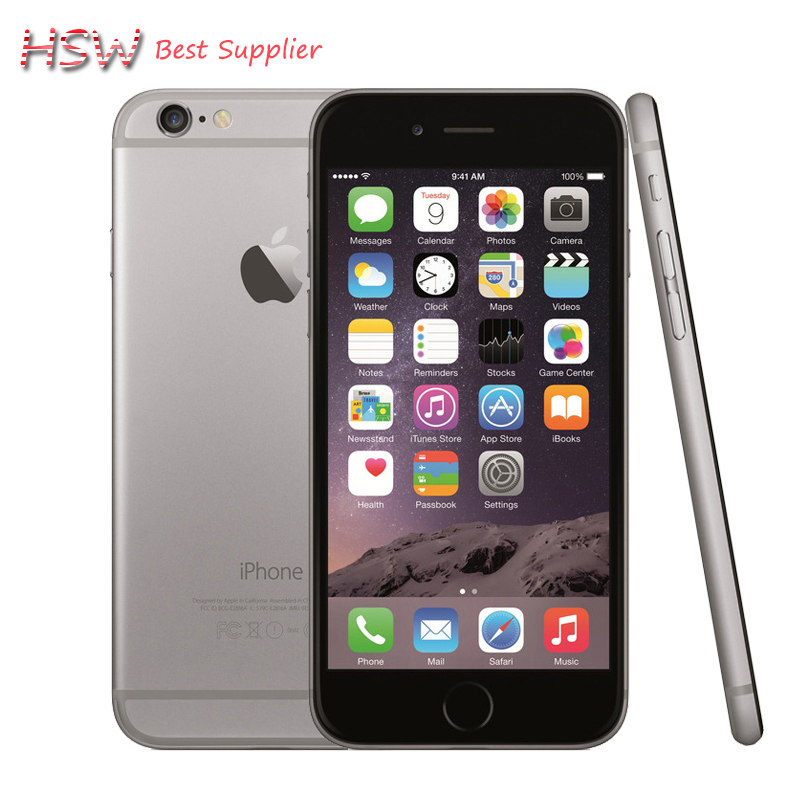 Hot sale Original Unlocked Apple iPhone 6 Cell Phones 1GB RAM 16/64/128GB ROM 4.7'IPS GSM WCDMA LTE iPhone6 Used Mobile Phone