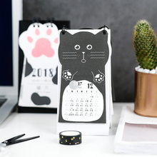 JIANWU Cute cartoon cat desk calendar 2017 2018 Rainlendar weekly planner Many styles kawaii