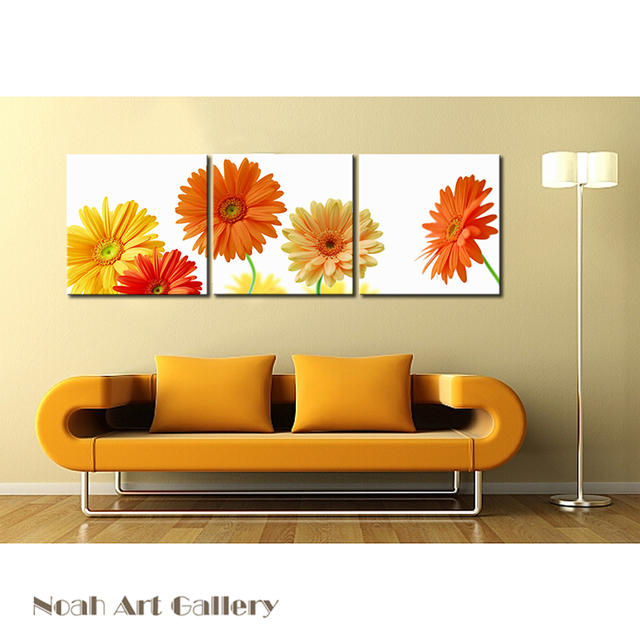 Modern Flower Pictures For Living Room Decoration Contemporary Lanscape High Definition Canvas Prints Wall Art 3