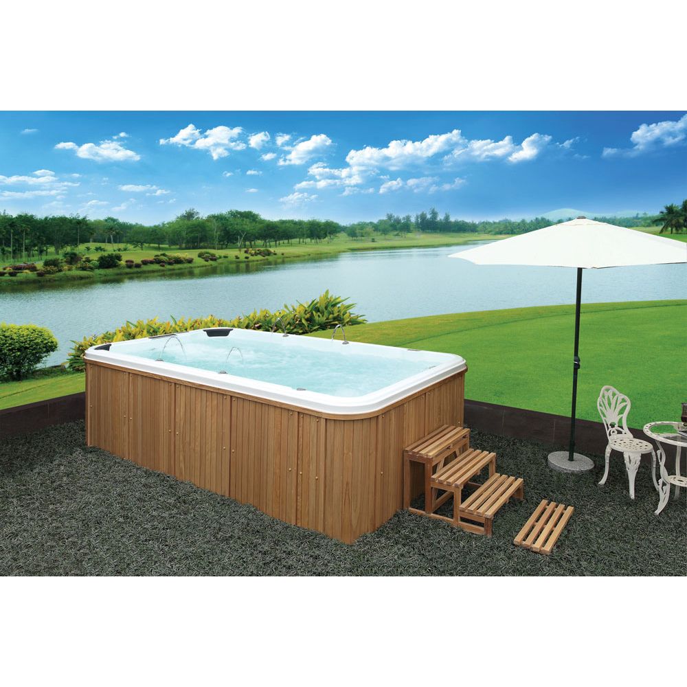 US $12182.0 |Luxurious swimming pool endless swim pool in balcony Against  the Current Acrylic Torrent Massage hydrotherapy pool-in Spa Tubs from Home  ...