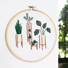 Embroidery Kit Beginner Embroidery Flowers Pattern Hoop Art Hand Embroidery Art Modern Embroidery DIY Kit Embroidery Pattern(China)