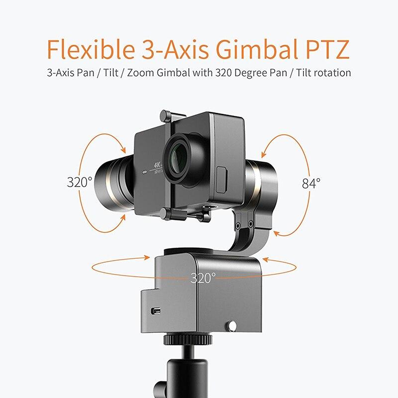 Image 2 - YI Handheld Gimbal 3 Axis Pan/Tilt/Roll Manual Adjustment 320 degree Compact & Light-in Handheld Gimbal from Consumer Electronics
