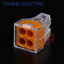 10pcs/lot PCT-104 4P 773-104 Push wire wiring connector For Junction box 4 pin conductor terminal block P296