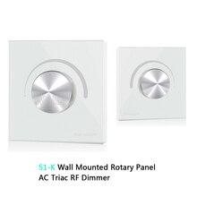 цены S1-K High Voltage Wall Mounted Rotary Panel 100V-240VAC Trailing Edge Dimming AC Triac RF LED Dimmer Panel Controller