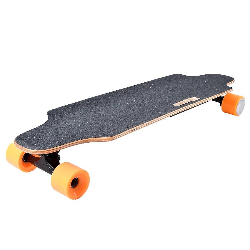 Quatre 4 Roue skateboard électrique Avec télécommande scooter adulte Bois Longboard planche de skate 10 km/25 km Mileage10km/25 km Kilométrage