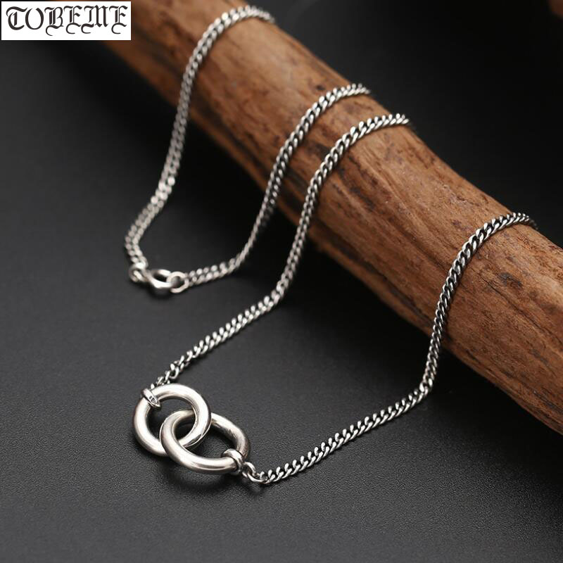 100% 925 Silver Women Necklace 925 Sterling Love Necklace Pure Silver Lady's Necklace