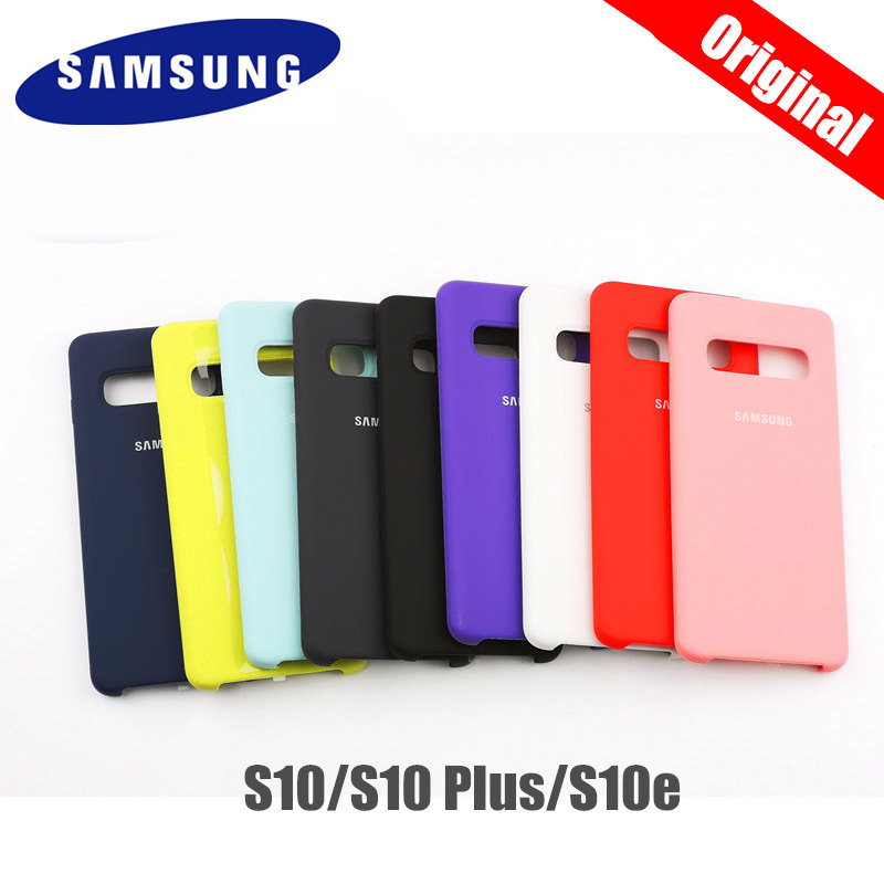 Original Samsung S10 Case Silky Silicone Cover High Quality Soft-Touch Back Protective Shell For Galaxy S10 PLUS/S10E