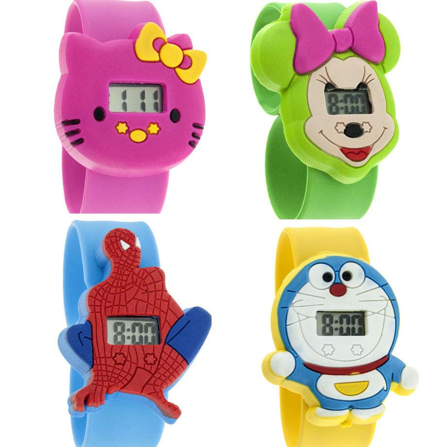 fashion kids slap watches children cartoon watch silicone (27 colors)drop shipping(Min order $10) - Nancy Girl Fashion Sets Mall store