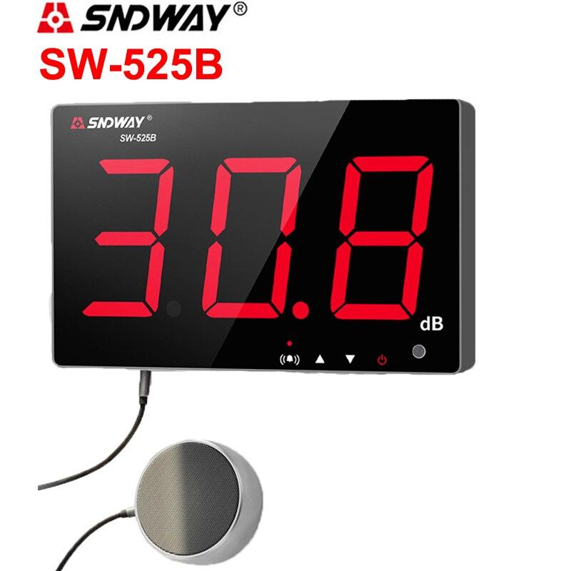 SNDWAY Digital Sound level meter 30 130db noise db meter measuring large screen hanging type Noise