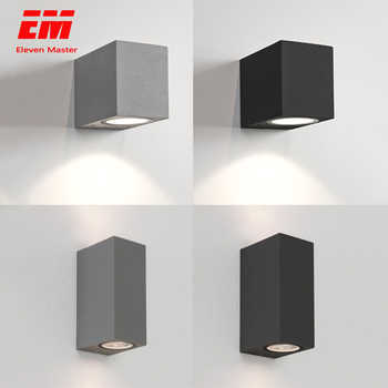 IP65 Waterproof indoor outdoor Led wall lights up down LED GU10 Led Wall Lamp Surface Mounted Cube Garden Porch Light ZBW0004 - DISCOUNT ITEM  25% OFF All Category
