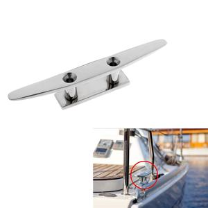 Image 5 - 8 316 Stainless Steel Marine Boat Kayak Watercraft Flat Top Low Cleat Rope Tie Boat Dock Rope Cleat Boat Parts Accessories